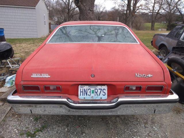 Pair of 1973 chevy novas red 73 nova custom drives 73 for Kansas dept of motor vehicles phone number