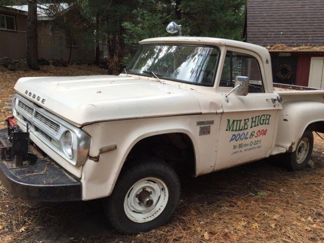 Rare 1970 Dodge Power Wagon Short Bed W100 Utiline