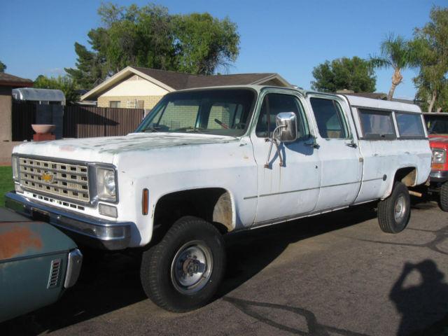 Rare 1976 Chevrolet Chevy Crew Cab Crewcab Truck 4x4 4