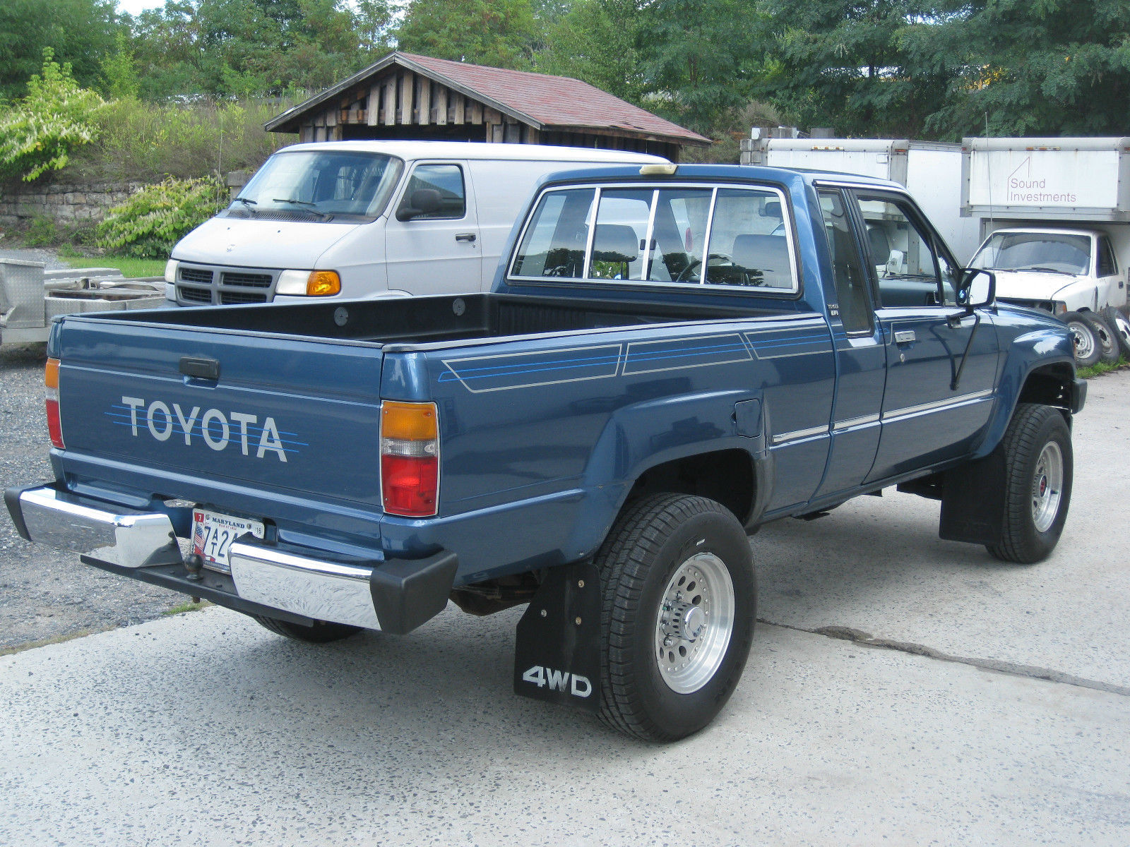 Rare Blue 1988 Toyota Pickup Extra Cab Auto 4wd Very Clean 4cyl