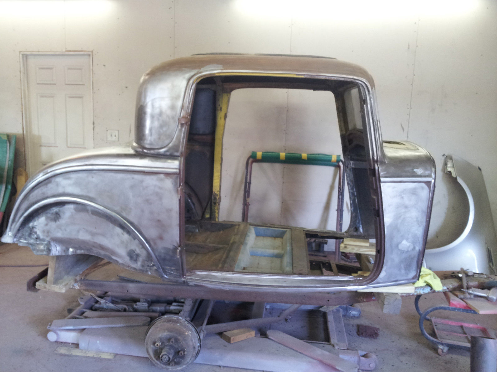 Real 1932 ford 3 window coupe gennie henry solid body bare for 1932 ford 3 window coupe steel body
