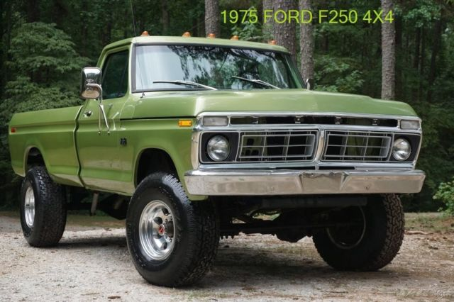 Restored 1975 ford f250 ranger xlt lariat highboy 4x4 460 for Ford used motors for sale