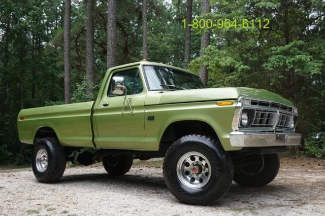 Restored 1975 Ford F250 Ranger Xlt Lariat Highboy 4x4 460