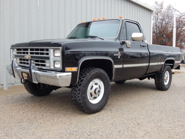 silverado k30 4x4 454 big block mostly original paint rust free truck. Black Bedroom Furniture Sets. Home Design Ideas