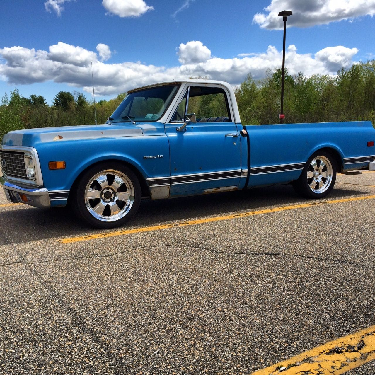 Solid C10 Longbed New 327ci Lowered On 20s Awesome Truck 1970 Ford