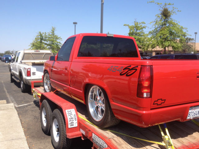 True 1993 454ss Truck Red With Gray Interior Supercharged