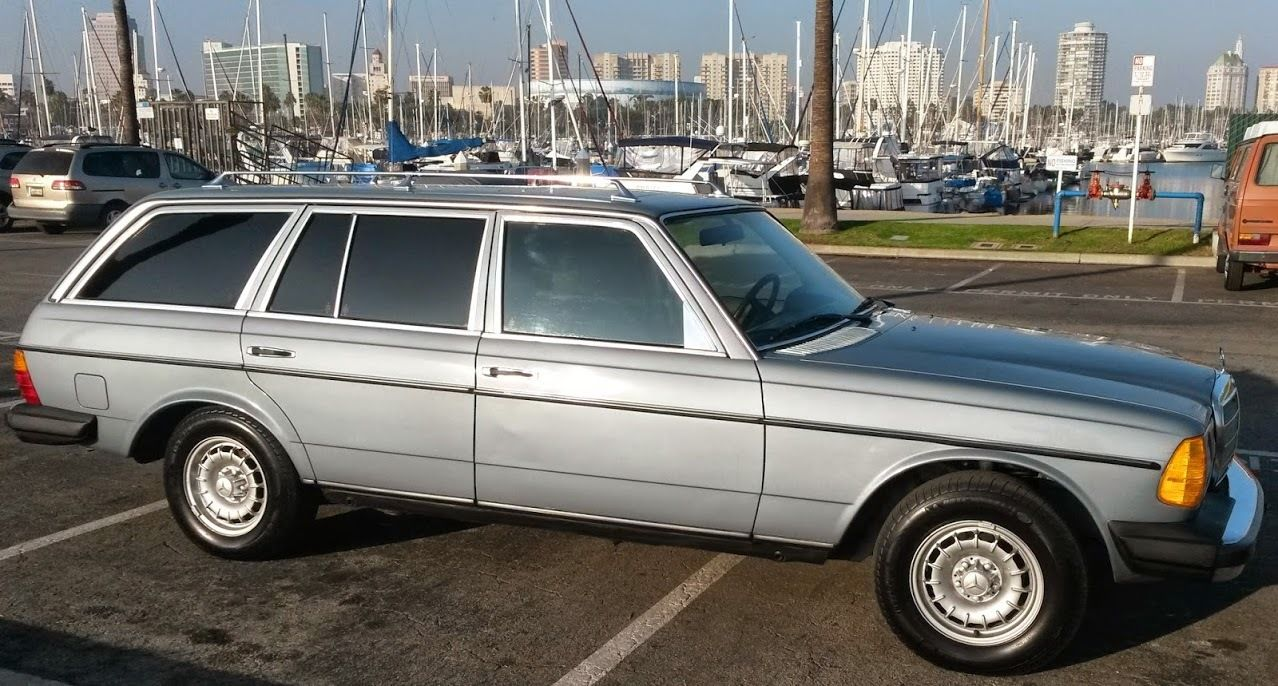 Very Dry Californian 81 Mercedes W123 300 Td Station Wagon Very