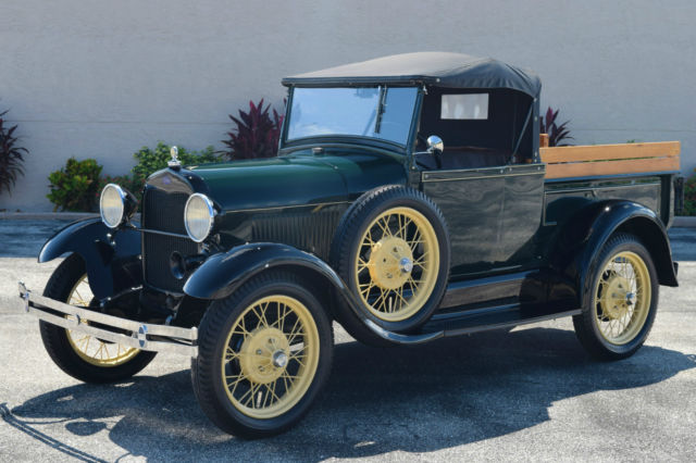 very nice fully restored 1928 model a rare cabrolet pickup truck. Black Bedroom Furniture Sets. Home Design Ideas