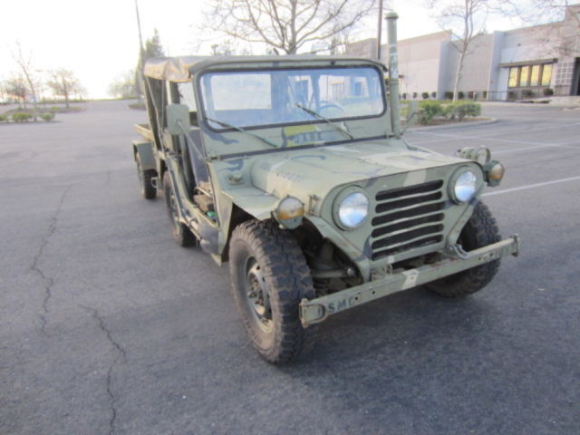 Very nice m151a1 mutt with matching m416 trailer