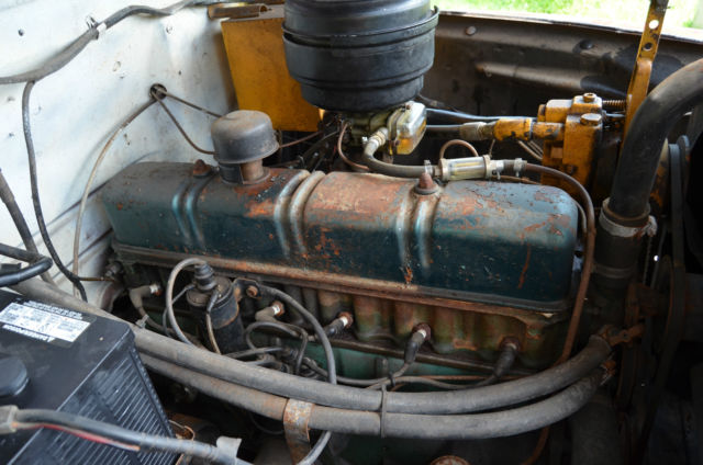 1952 Ford Six Cylinder Engine : Vintage ford f ton pick up with dump