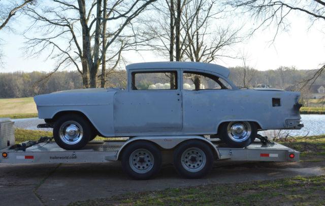 vintage 1955 chevrolet belair 2 door sedan project great builder. Black Bedroom Furniture Sets. Home Design Ideas