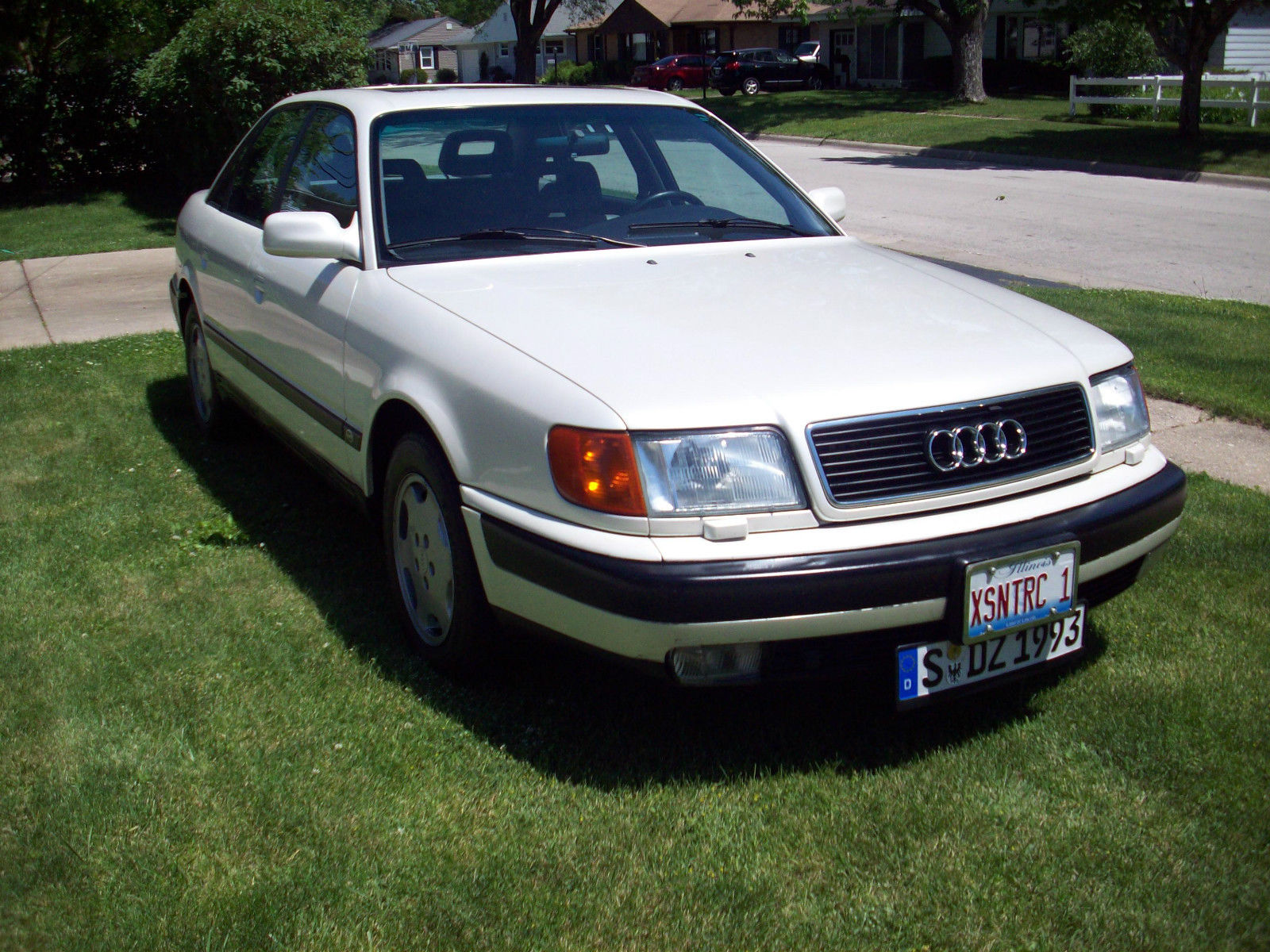 Vintage, 1993 Audi 100 CS, Pearl White, Euro Plate, 5 speed, Reserve  Lowered.