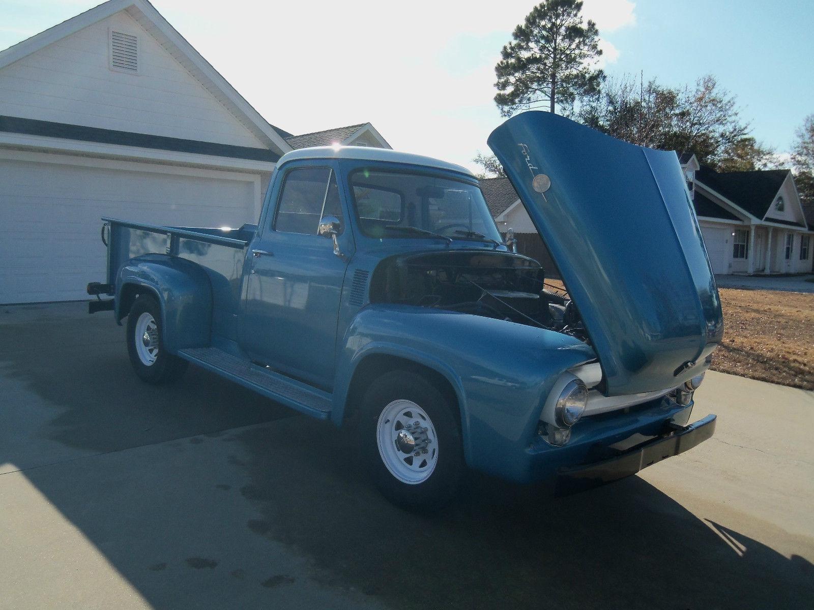 vintage antique ford truck f 250 1955 excellent condition original motor. Black Bedroom Furniture Sets. Home Design Ideas