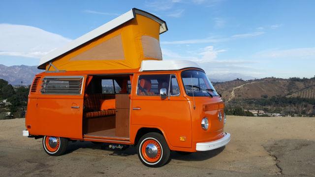 Vw 1974 Original Orange Plaid Bus Camper Westfalia 2 Videos