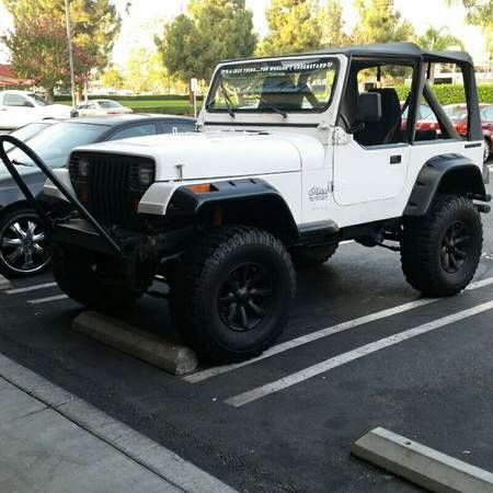 white 1988 jeep wrangler yj base sport utility 2 door 4 2l. Black Bedroom Furniture Sets. Home Design Ideas