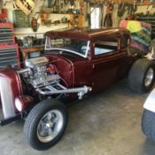 1930 ford model a coupe chopped channeled sectioned hot rod rat rod