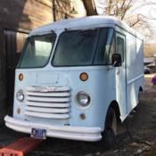 super rare grumman olson kubvan aluminum postal truck van breadtruck. Black Bedroom Furniture Sets. Home Design Ideas