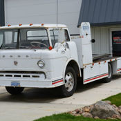 1975 ford c 600 coe ramp truck wedge body car hauler cabover for Mercedes benz c550 for sale