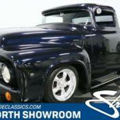 classic vintage pickup truck 350 v8 auto blue chopped f100 1956